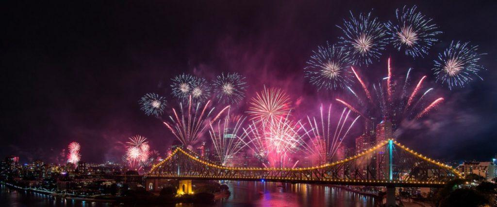 River Fire in Brisbane